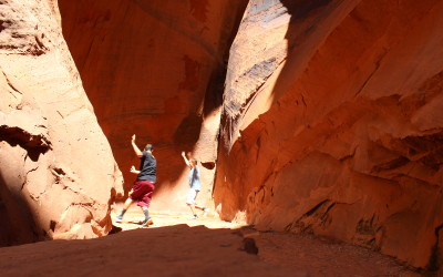 There is a slot canyon on the Burr Trail that's SO easy to get to!